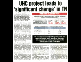 UHC project leads to 'significant change' in TN