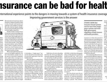 Insurance can be bad for health